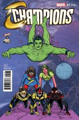 Champions (2016) #1 Variant ZA: CBLDF Variant, Polybagged