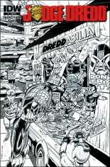 Judge Dredd (2012-2015) #1 Variant R: Jetpack Comics Black & White 1:500 Exclusive