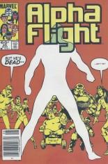Alpha Flight (1983-1994) #25 Variant A: Newsstand Edition