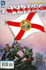 Justice League of America (2013-2014) #1 Variant L: Florida Flag Variant