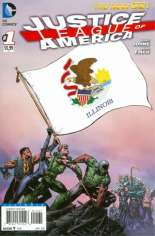 Justice League of America (2013-2014) #1 Variant P: Illinois Flag Variant