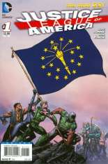 Justice League of America (2013-2014) #1 Variant Q: Indiana Flag Variant