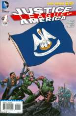 Justice League of America (2013-2014) #1 Variant U: Louisiana Flag Variant