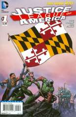 Justice League of America (2013-2014) #1 Variant W: Maryland Flag Variant