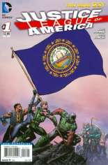 Justice League of America (2013-2014) #1 Variant ZF: New Hampshire Flag Variant