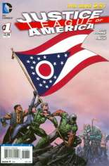 Justice League of America (2013-2014) #1 Variant ZL: Ohio Flag Variant