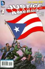 Justice League of America (2013-2014) #1 Variant ZP: Puerto Rico Flag Variant