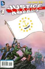 Justice League of America (2013-2014) #1 Variant ZQ: Rhode Island Flag Variant