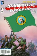 Justice League of America (2013-2014) #1 Variant ZY: Washington Flag Variant