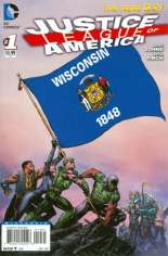 Justice League of America (2013-2014) #1 Variant ZZA: Wisconsin Flag Variant