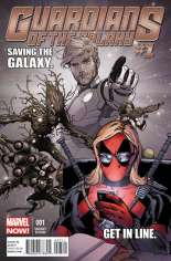 Guardians of the Galaxy (2013-2015) #1 Variant G: Texts from Deadpool Cover