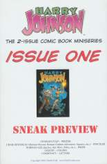 Harry Johnson (2004) #1 Variant B: Preview Edition