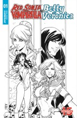 Red Sonja and Vampirella Meet Betty and Veronica #1 Variant I: 20 Copy B&W Incentive