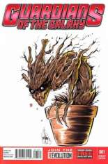 Guardians of the Galaxy (2013-2015) #1 Variant V: DF Exclusive Re-Marked Edition; Signed by Ken Hauser