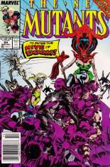New Mutants (1983-1991) #84 Variant A: Newsstand Edition