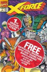 X-Force (1991-2002) #1 Variant E: Newsstand Edition; Polybagged w/ Sunspot Trading Card