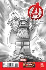 Avengers (2012-2015) #21 Variant C: LEGO Sketch Cover