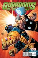 Guardians of the Galaxy (2013-2015) #8 Variant B: Thor Battle Cover