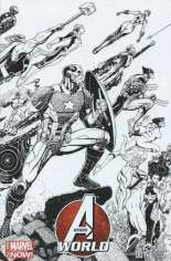 Avengers World (2014-2015) #1 Variant E: Wraparound Sketch Cover