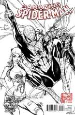 Amazing Spider-Man (2014-2015) #1 Variant P: Midtown Exclusive Connecting Sketch Cover