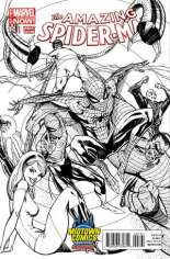 Amazing Spider-Man (2014-2015) #1.1 Variant E: Midtown Comics Exclusive Black & White Cover