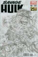Savage Hulk (2014-2015) #1 Variant C: 75th Anniversary Sketch Cover