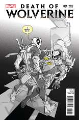 Death of Wolverine (2014) #1 Variant H: Deadpool Sketch Cover