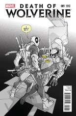 Death of Wolverine (2014) #1 Variant H: Deadpool Sketch Cover