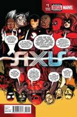 Avengers and X-Men: AXIS (2014-2015) #1 Variant D: Deadpool Party Cover