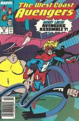 West Coast Avengers (1985-1989) #46 Variant A: Newsstand Edition; Numbering continued in Avengers West Coast (1989-1994) #47