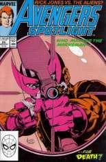Avengers Spotlight (1989-1991) #25 Variant B: Direct Edition