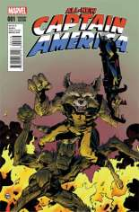 All-New Captain America (2015) #1 Variant D: Rocket Raccoon & Groot Cover