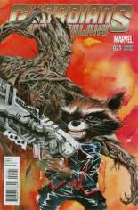 Guardians of the Galaxy (2013-2015) #21 Variant B: Rocket Raccoon & Groot Cover