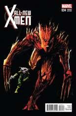 All-New X-Men (2013-2015) #34 Variant B: Rocket Raccoon & Groot Cover