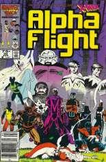 Alpha Flight (1983-1994) #33 Variant A: Newsstand Edition