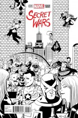 Secret Wars (2015-2016) #1 Variant E: Party Sketch Cover