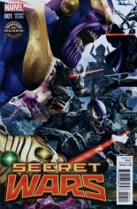 Secret Wars (2015-2016) #1 Variant U: GameStop Exclusive Villains Cover