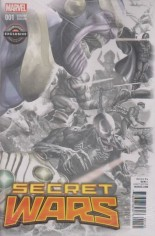 Secret Wars (2015-2016) #1 Variant W: GameStop Exclusive Villains Sketch Cover
