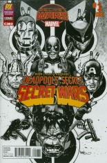 Deadpool's Secret Secret Wars (2015) #1 Variant J: C2E2 Previews Exclusive inked Variant Cover