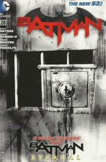 Batman (2011-2016) #28 Variant E: ComicsPro Exclusive Black & White Cover