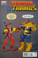 Deadpool vs Thanos #1 Variant C: Action Figure Cover
