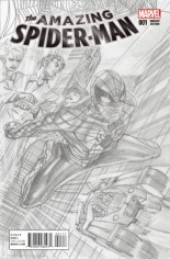 Amazing Spider-Man (2015-2017) #1 Variant M: Incentive Sketch Cover