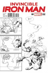 Invincible Iron Man (2015-2016) #1 Variant R: Incentive Party Sketch Variant Cover