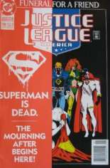Justice League America (1989-1996) #70 Variant B: Newsstand Edition w/ Overlay