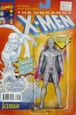 Uncanny X-Men (2013-2016) #600 Variant C: Iceman Action Figure Cover