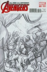 All-New, All-Different Avengers (2016-Present) #1 Variant H: Incentive Vintage Sketch Variant Cover