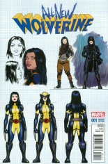 All-New Wolverine (2016-2018) #1 Variant F: Incentive Design Variant Cover