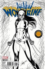 All-New Wolverine (2016-2018) #1 Variant J: Cargo Hold B/W Variant Cover