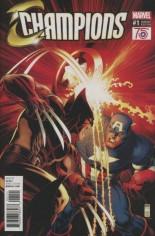 Champions (2016) #1 Variant I: Captain America 75th Anniversary Variant