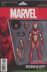 Invincible Iron Man (2017) #1 Variant E:  Action Figure Variant